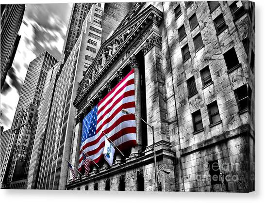 Ny Stock Exchange Canvas Print by Alessandro Giorgi Art Photography