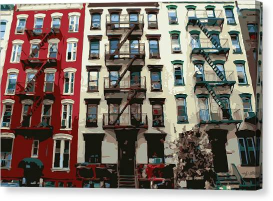The City That Never Sleeps Canvas Print - Nyc Apartment Color 16 by Scott Kelley
