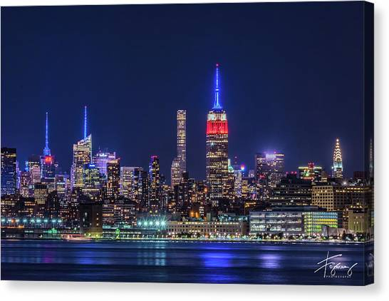 Nyc At The Blue Hour Canvas Print