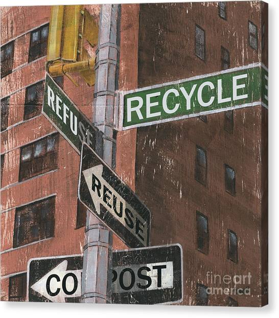 Street Scenes Canvas Print - Nyc Broadway 1 by Debbie DeWitt