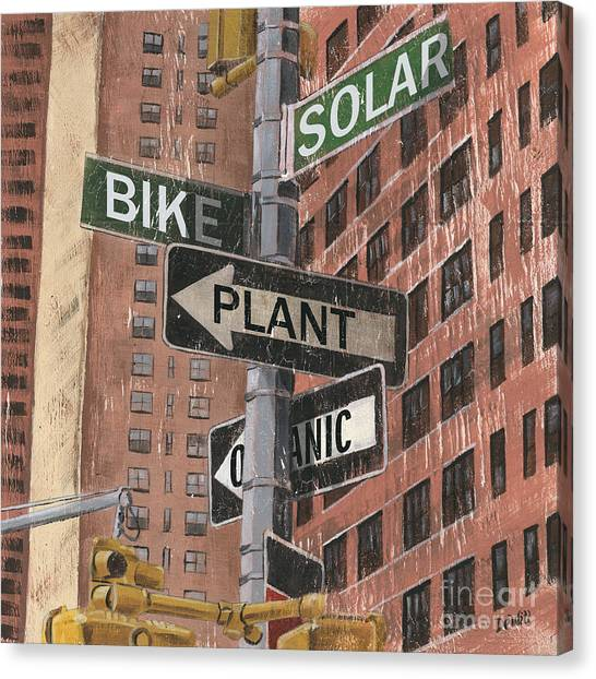 Street Scenes Canvas Print - Nyc Broadway 2 by Debbie DeWitt