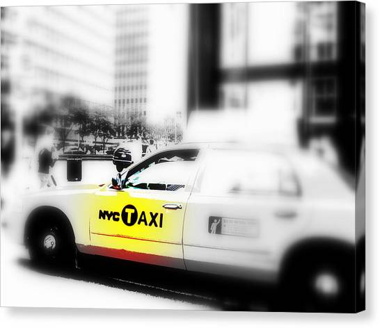 Nyc Cab Canvas Print