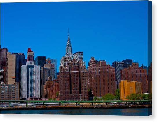 Nyc Chrysler Building  Canvas Print by Arthur Sa