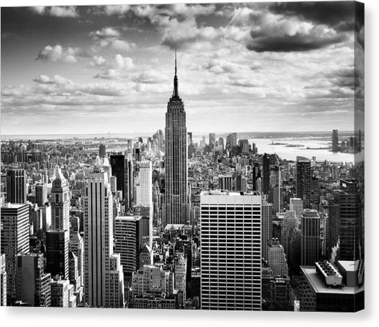 New York Skyline Canvas Print - Nyc Downtown by Nina Papiorek