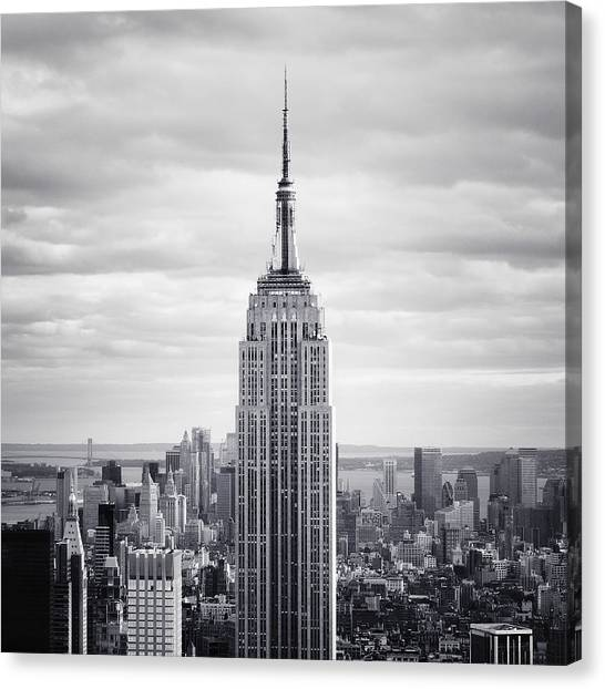 New York Skyline Canvas Print - Nyc Empire by Nina Papiorek