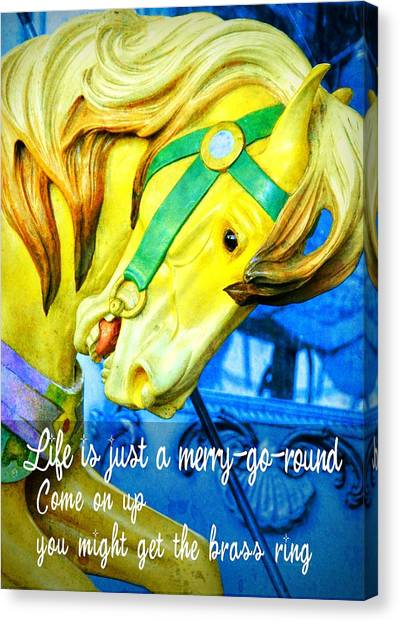 Nyc Golden Steed Quote Canvas Print by JAMART Photography