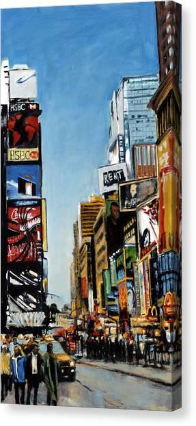 Nyc IIi Cab Dodging Canvas Print