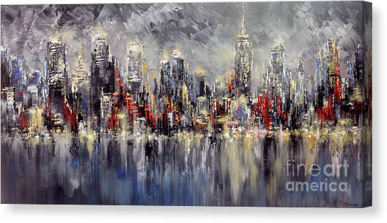 Nyc Lights Canvas Print