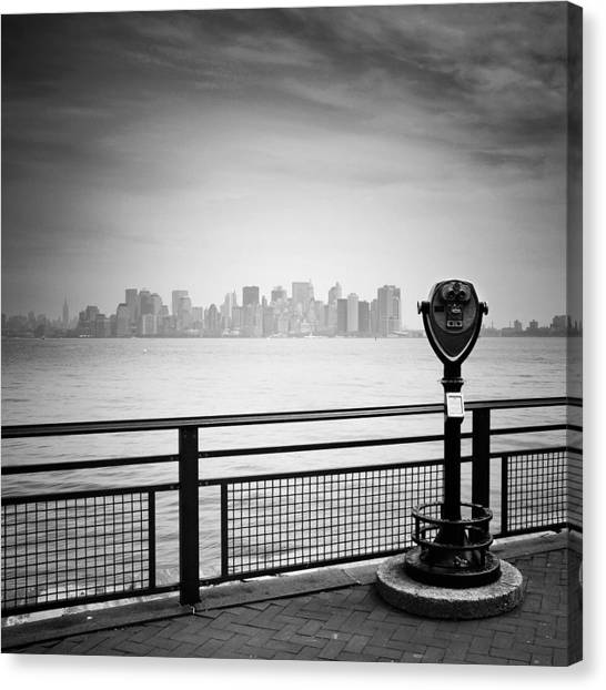 New York Skyline Canvas Print - Nyc Manhattan View by Nina Papiorek