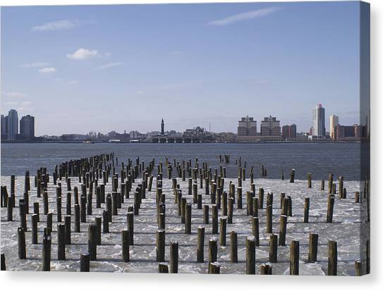 New York City Piers  Canvas Print