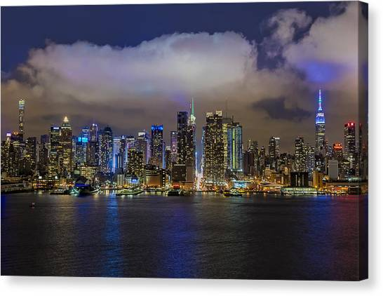 Times Square Canvas Print - Nyc Skyline At Night by Susan Candelario