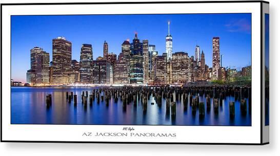 Big East Canvas Print - Nyc Skyline Poster Print by Az Jackson