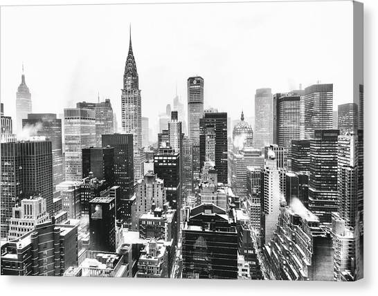 Skylines Canvas Print - Nyc Snow by Vivienne Gucwa