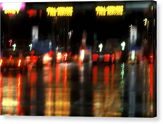 Nyc Toll Booth Canvas Print by Brad Rickerby