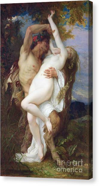 Mythological Creatures Canvas Print - Nymph Abducted By A Faun by Alexandre Cabanel