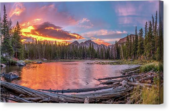 Nymph Lake Sunrise Canvas Print by Robert Yone