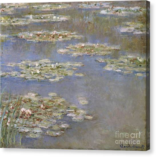 French Impressionist Canvas Print - Nympheas by Claude Monet
