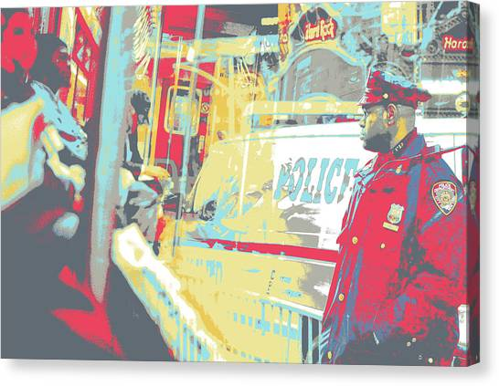 N Y P D Canvas Print by Shay Culligan