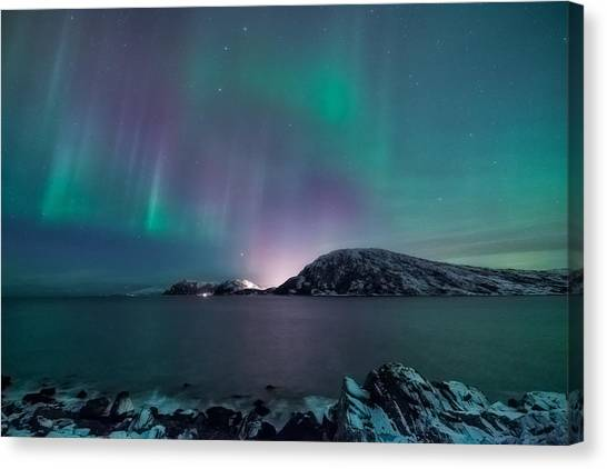 Aurora Borealis Canvas Print - O Holy Night by Tor-Ivar Naess