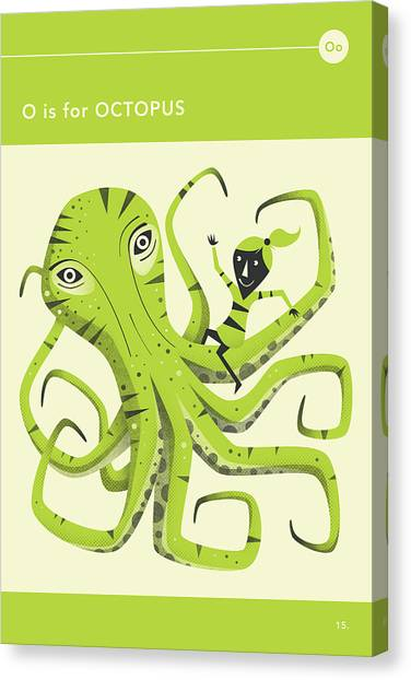 Octopus Canvas Print - O Is For Octopus by Jazzberry Blue
