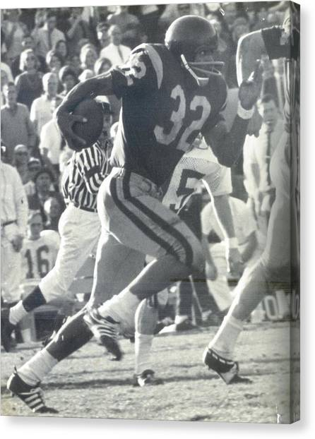 O J Simpson - Rose Bowl 1969 Canvas Print