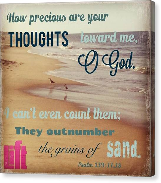 Design Canvas Print - O Lord, You Have Examined My Heart  And by LIFT Women's Ministry designs --by Julie Hurttgam