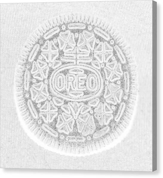 Nabisco Canvas Print - O R E O In White by Rob Hans