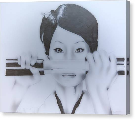 Lucy Liu Canvas Print - O-ren Ishii by Sarah Murabito