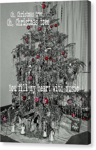 O Tannenbaum Quote Canvas Print by JAMART Photography