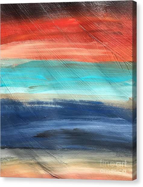 Oak Creek #27 Southwest Landscape Original Fine Art Acrylic On Canvas Canvas Print