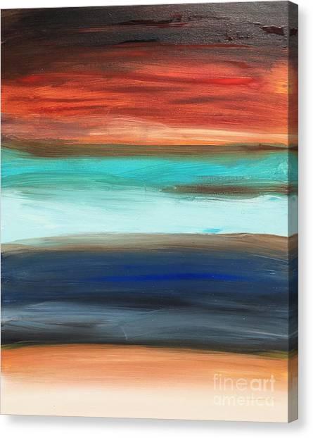 Oak Creek #28 Southwest Landscape Original Fine Art Acrylic On Canvas Canvas Print