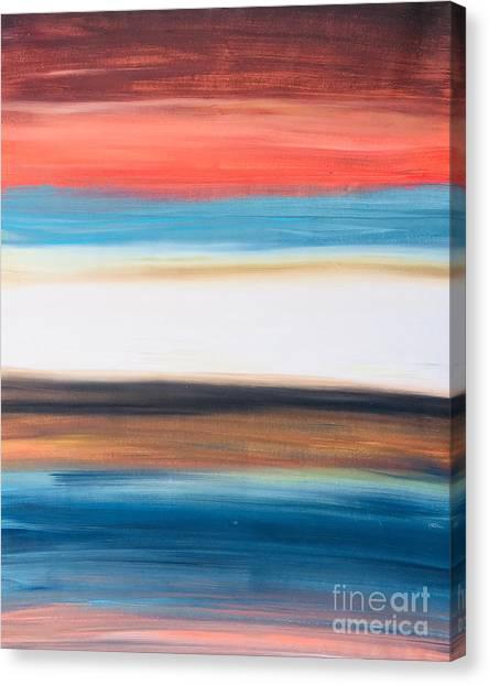 Oak Creek #29 Southwest Landscape Original Fine Art Acrylic On Canvas Canvas Print
