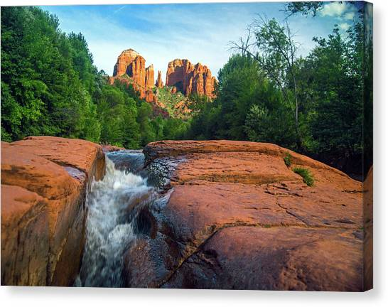 Oak Creek And Cathedral Rock Sedona Canvas Print