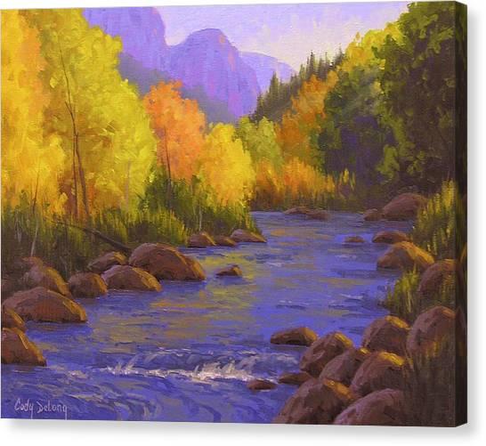 Arizona Canvas Print - Oak Creek Color Show by Cody DeLong