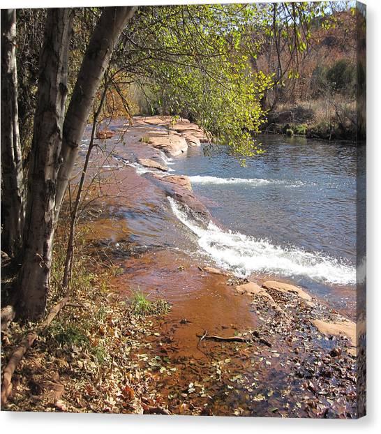 Arizona Canvas Print - Oak Creek In The Fall. Sedona, Arizona by Reid Nelson