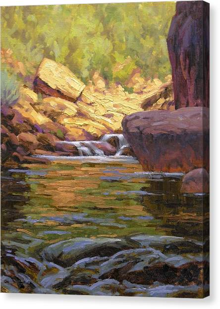 Water Scene Canvas Print - Oak Creek Tributary by Cody DeLong