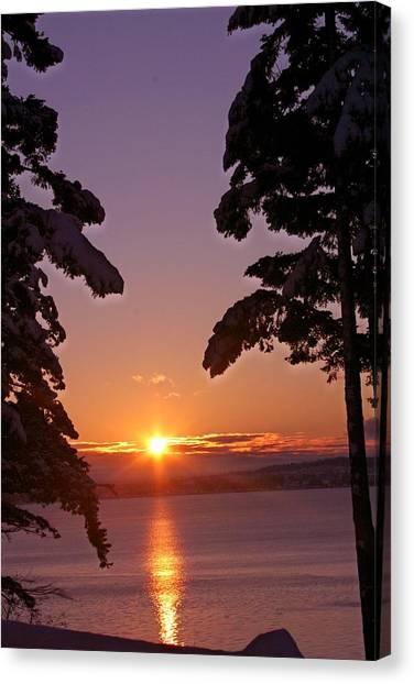 Oak Harbor Sunrise II Sr 2002 Canvas Print by Mary Gaines