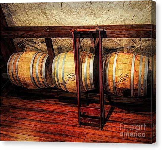 Sun Belt Canvas Print - Oaken Barrels by Luther Fine Art
