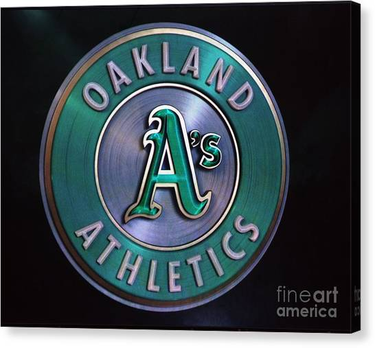 Oakland Athletics Canvas Print - Oakland A's Logo by Brooks Creative -Photography and Artwork By Anthony Brooks