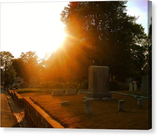 Oakland Cemetery In Atlanta Canvas Print