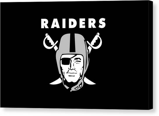 Football Teams Canvas Print - Oakland Raiders by Maye Loeser
