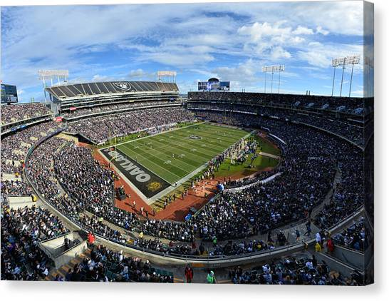 Oakland Raiders O.co Coliseum Canvas Print