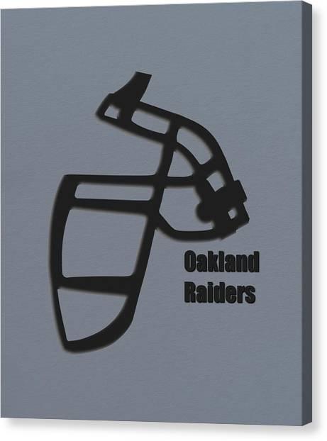 Oakland Raiders Canvas Print - Oakland Raiders Retro by Joe Hamilton