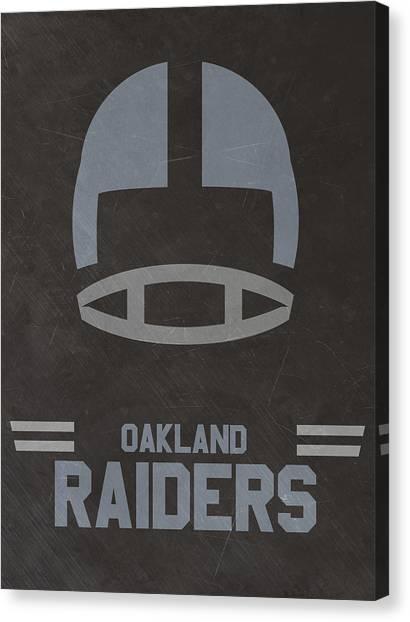 Oakland Raiders Canvas Print - Oakland Raiders Vintage Art by Joe Hamilton