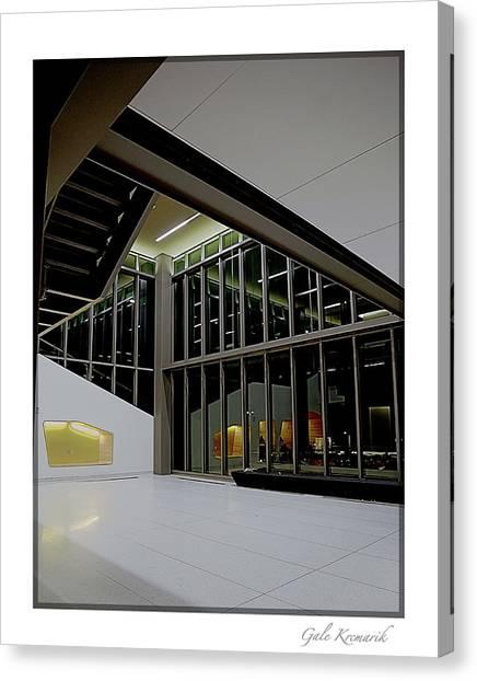 Horizon League Canvas Print - Oakland University - Engineering Center Lobby -2016 by Gale Krcmarik