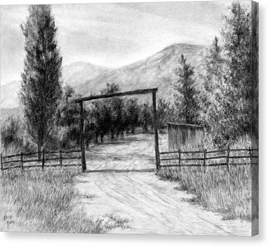 Oakley Ranch Entrance Canvas Print