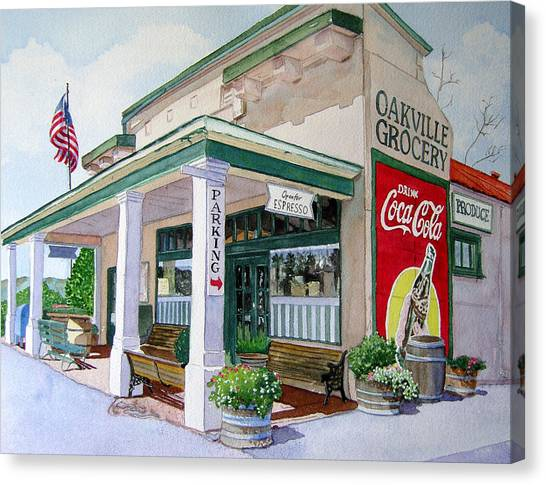 Wine Country Canvas Print - Oakville Grocery by Gail Chandler