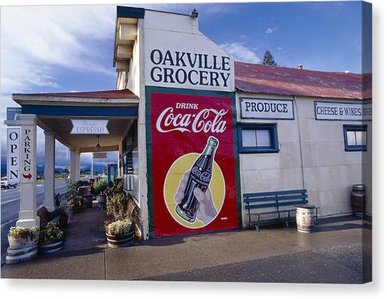 Oakville Grocery Store Napa Valley Canvas Print by George Oze
