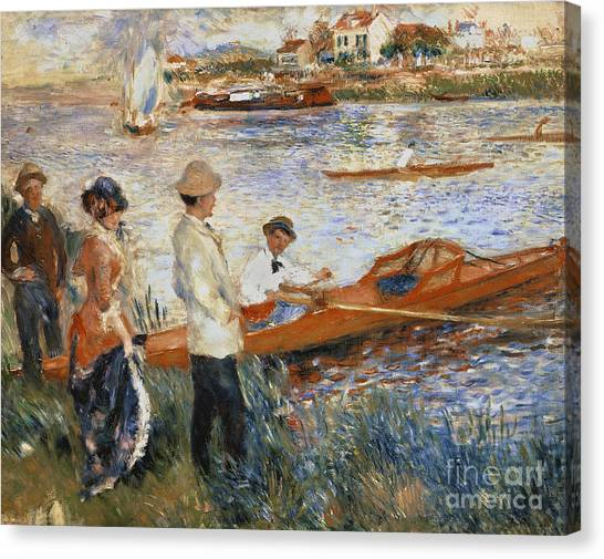 Pierre-auguste Renoir Canvas Print - Oarsmen At Chatou by Pierre Auguste Renoir
