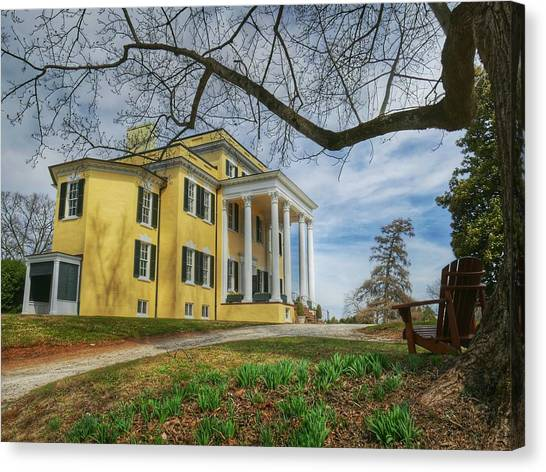 Canvas Print featuring the photograph Oatlands Historic Home by Ryan Shapiro